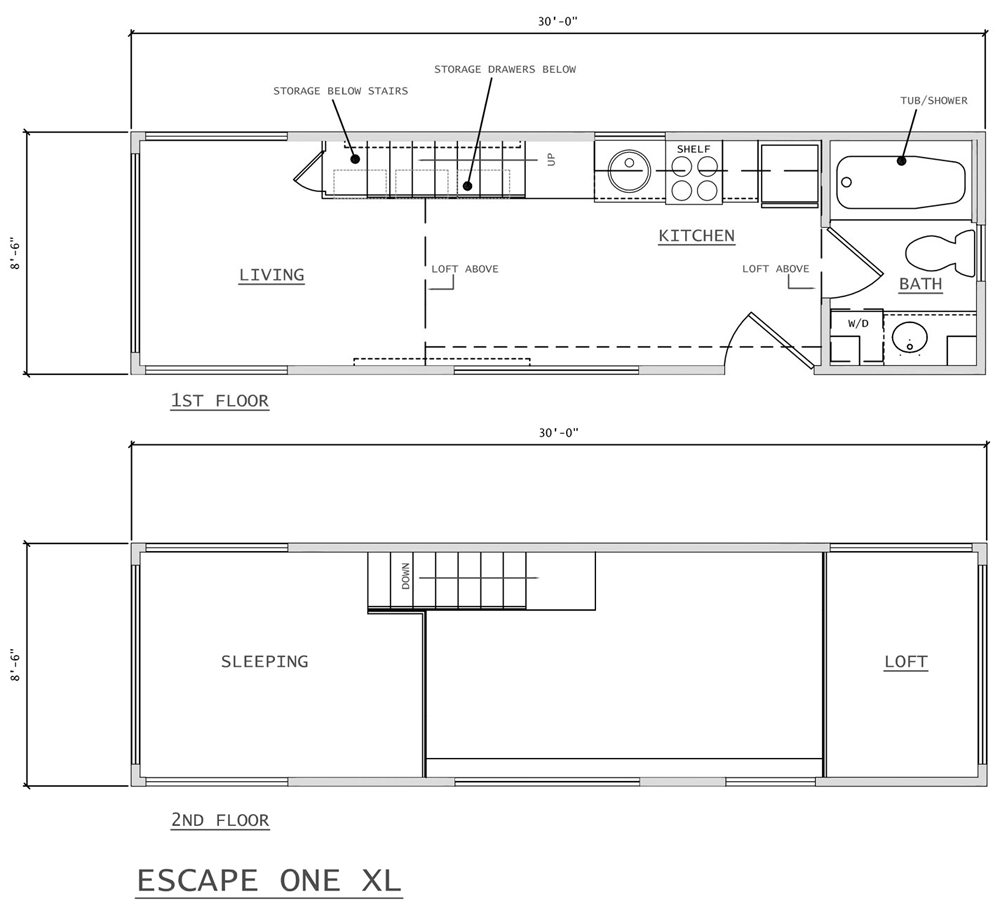 Floor Plan - One XL by Escape Traveler