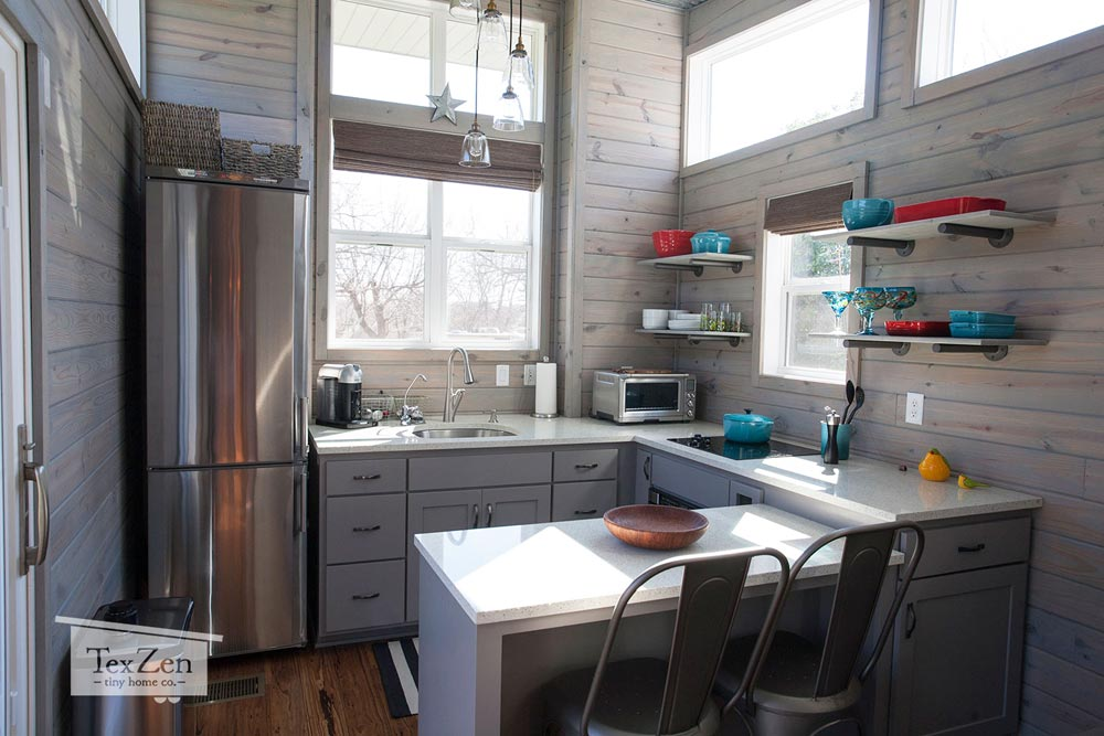 Spacious Kitchen - Open Concept by TexZen Tiny Home Co.