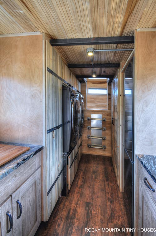 Laundry/Closet Area - Pemberley by Rocky Mountain Tiny Houses