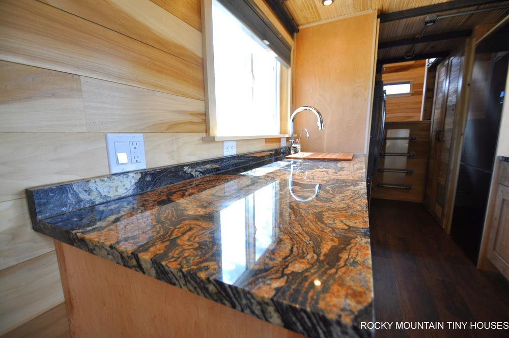 Orinoco Granite Countertops - Pemberley by Rocky Mountain Tiny Houses