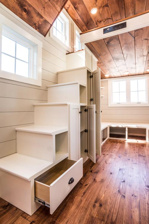 Storage Stairs - Ridgewood by Timbercraft Tiny Homes