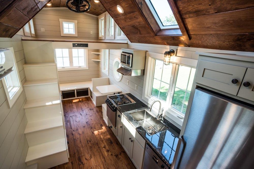 Kitchen & Storage Stairs - Ridgewood by Timbercraft Tiny Homes