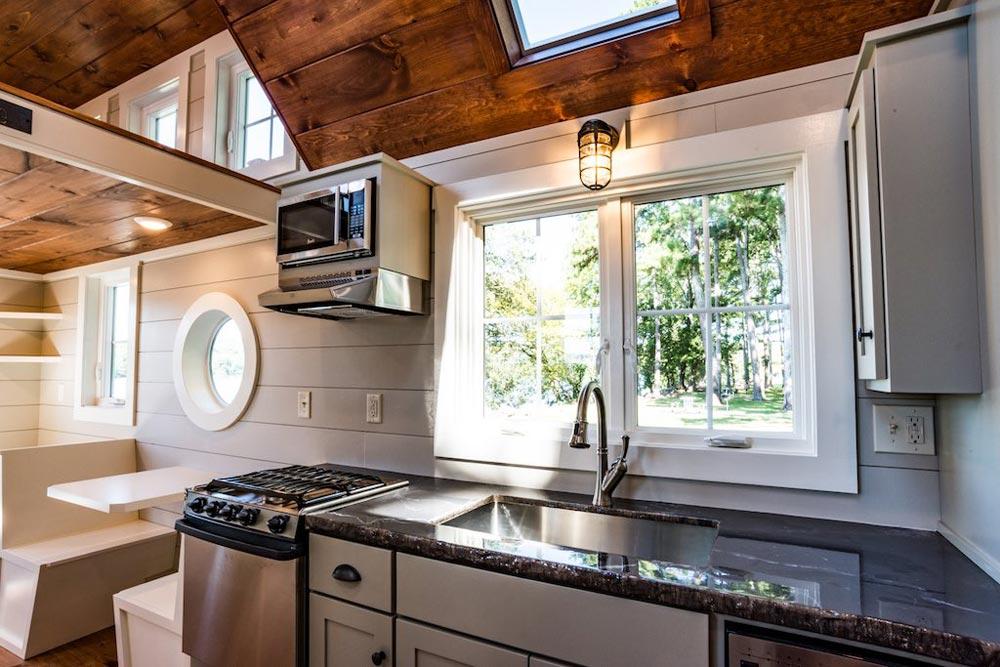 Gas Range w/ Hood - Ridgewood by Timbercraft Tiny Homes