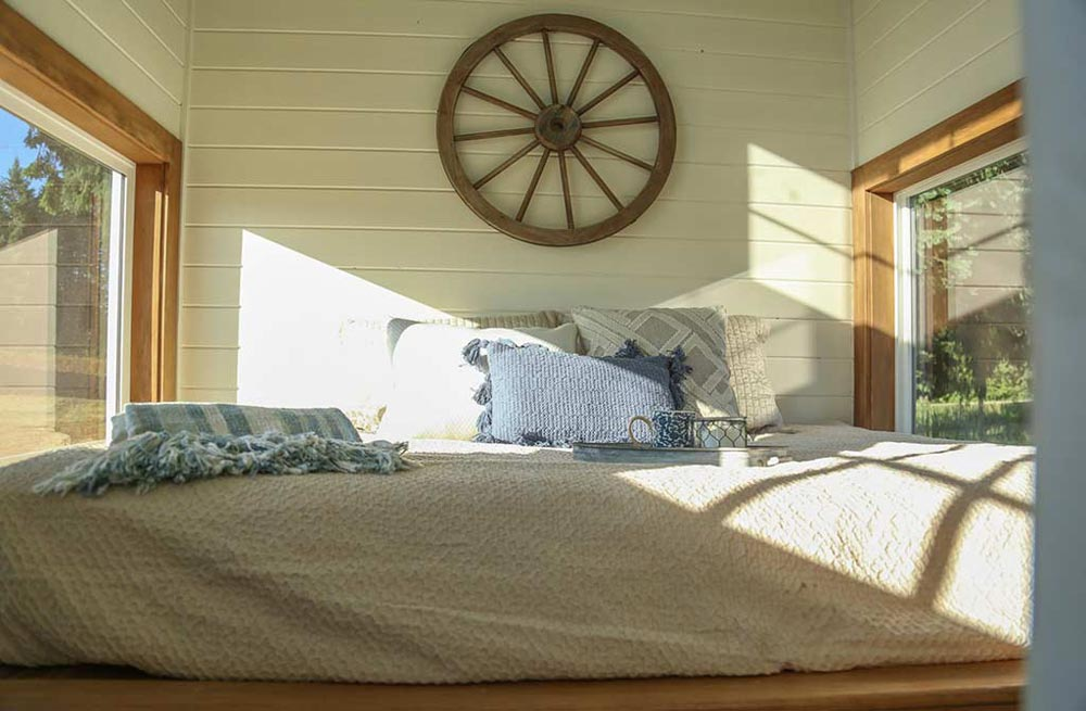 Main Floor Bedroom - Rustic Tiny Home by Tiny Heirloom