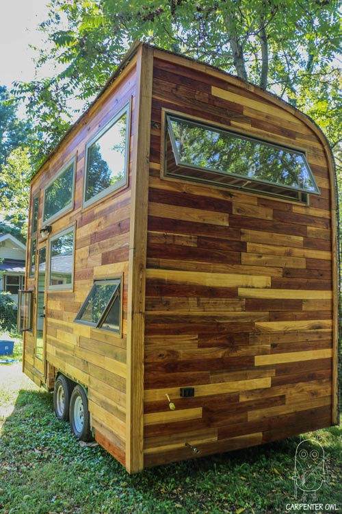 Reclaimed Wood Exterior - Snails Away by Carpenter Owl