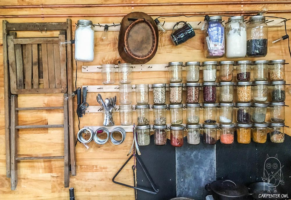 Ball Jar Storage - Snails Away by Carpenter Owl