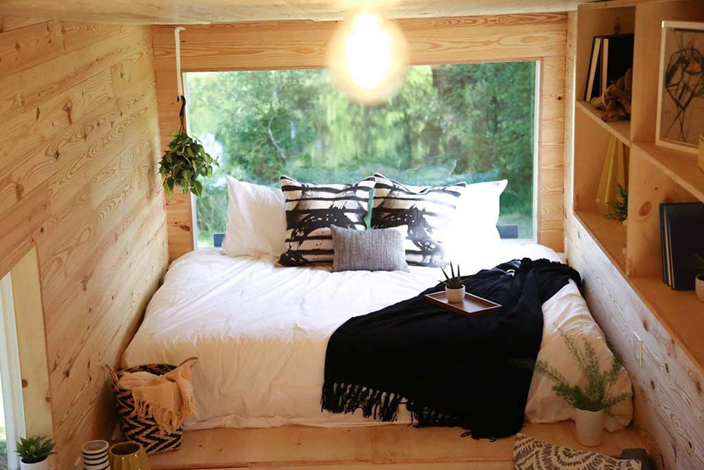 Main Floor Bed - Tiny Home on the Coast by Tiny Heirloom