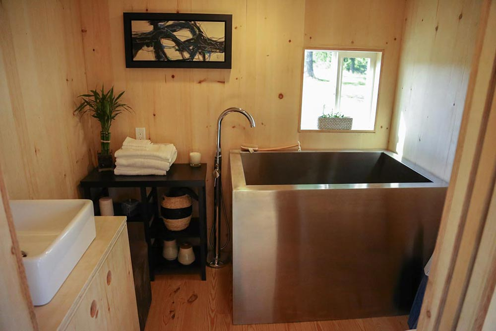 Japanese Soaking Tub - Tiny Home on the Coast by Tiny Heirloom