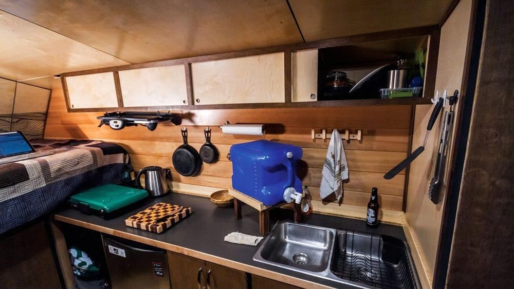 Kitchen - Andy's Tiny House