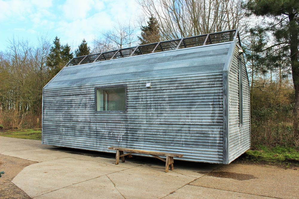 Galvanized Metal Exterior - Mini Cabin by Contemporary Shepherds Huts