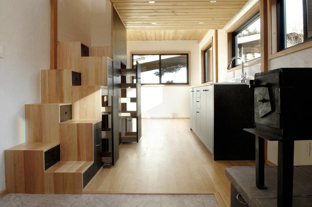 Interior View - Curved 260 Micro Home by Structural Spaces