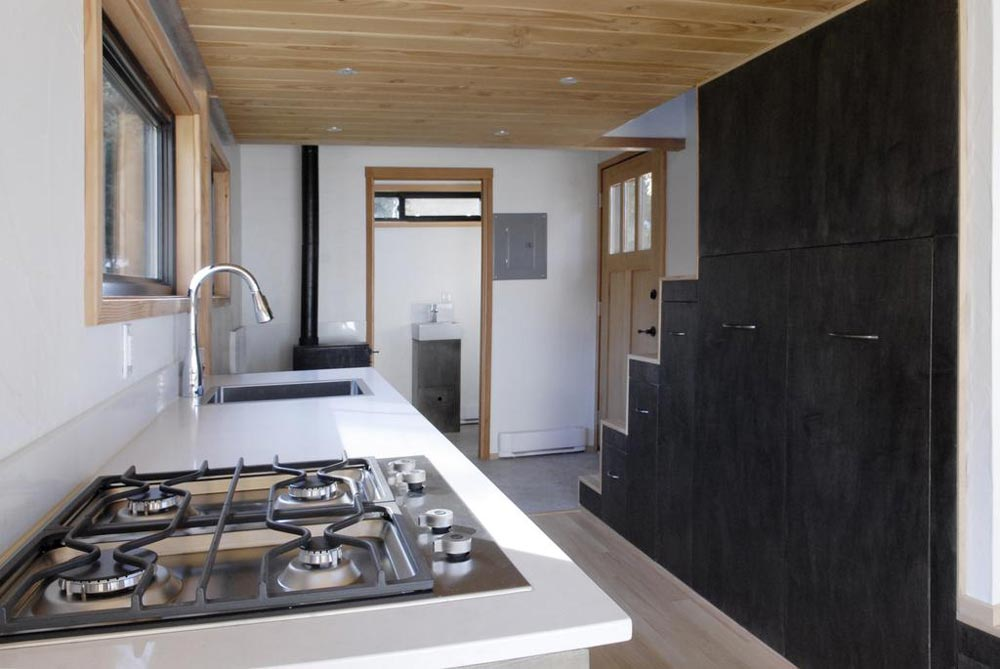 Kitchen - Curved 260 Micro Home by Structural Spaces