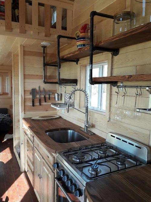 Kitchen - Custom 30' by Tiny Treasure Homes
