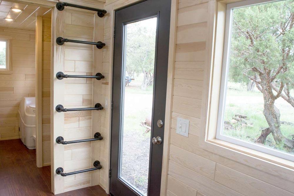 Full Light Front Door - Custom 30' by Tiny Treasure Homes