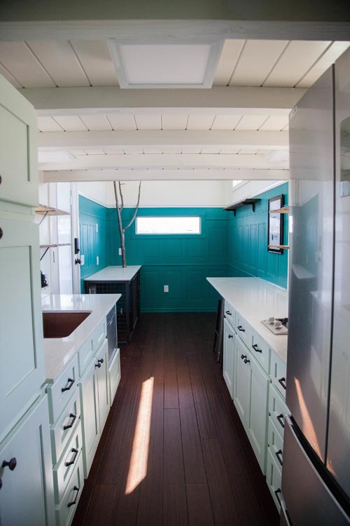 Galley Kitchen - El Gato by Alpine Tiny Homes
