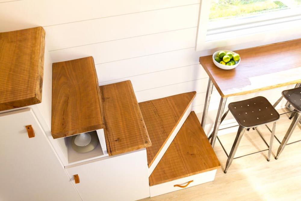 Cherry Live Edge Stairs - Elsa by Olive Nest Tiny Homes