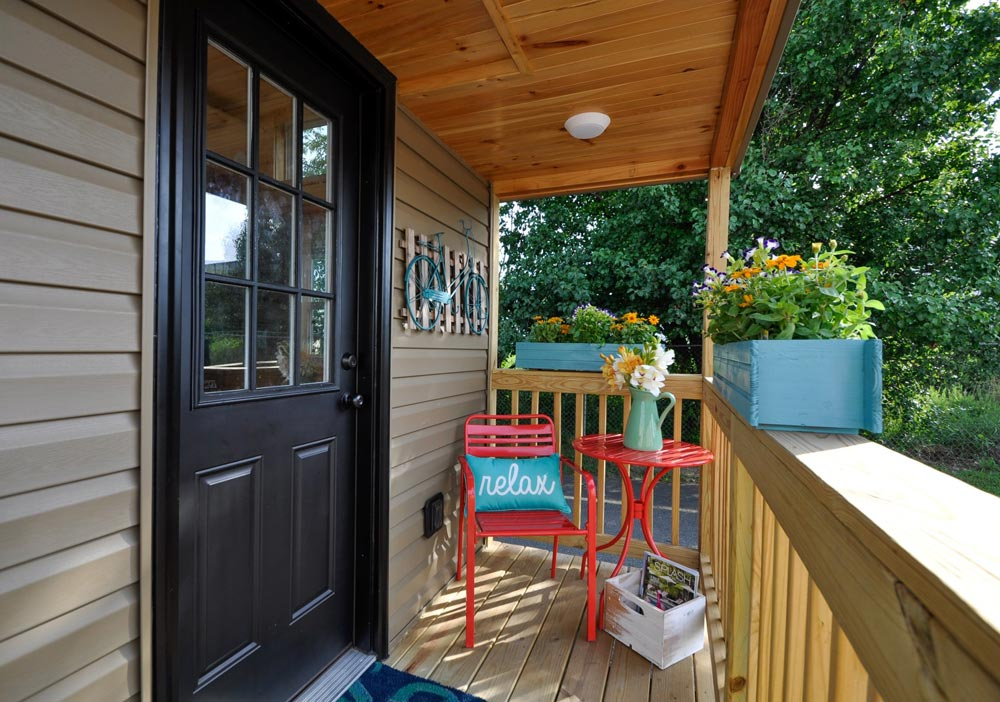 Porch - Harbor by Tiny House Building Company