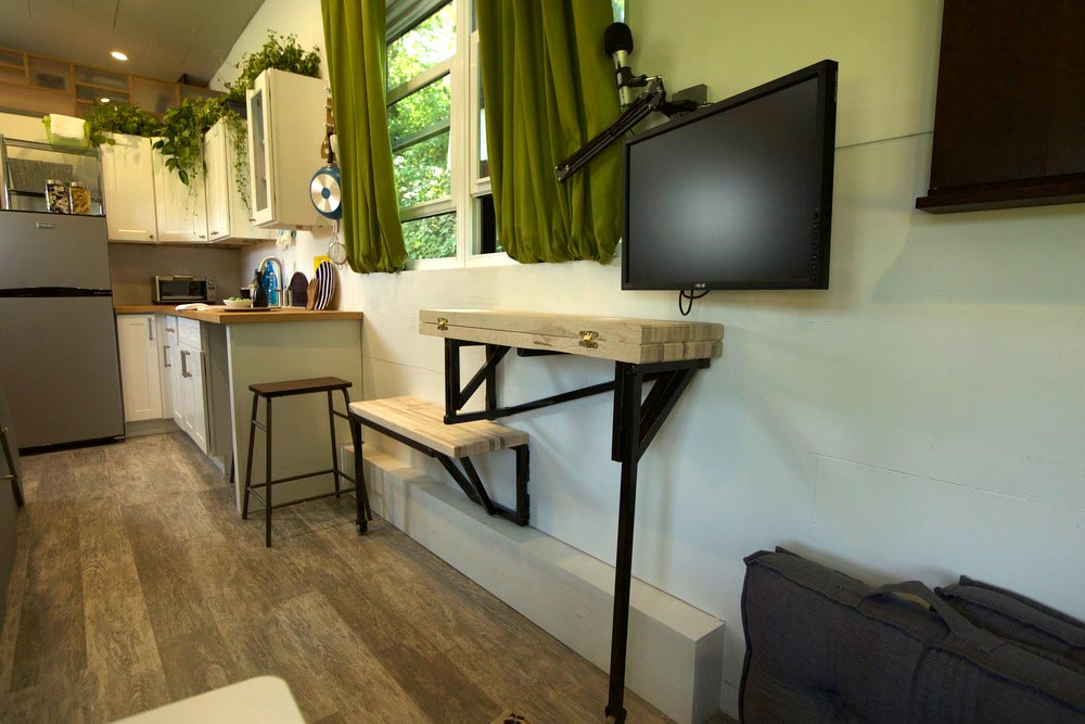 Fold Out Table - Modern Tiny Smart Home