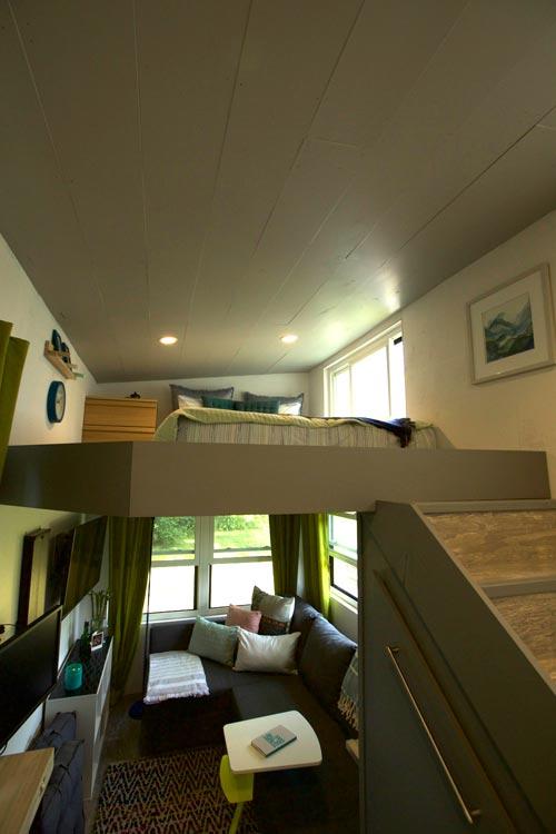 Loft & Living Room - Modern Tiny Smart Home