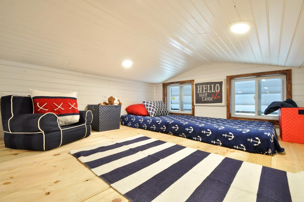 King Bedroom Loft - Patriot by Tiny House Building Company
