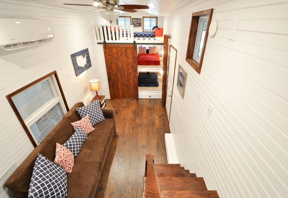 View From Master Loft - Patriot by Tiny House Building Company