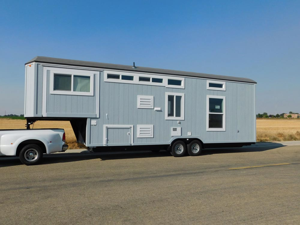 Gooseneck Tiny House - Sawtooth Toy Hauler by Tiny Idahomes