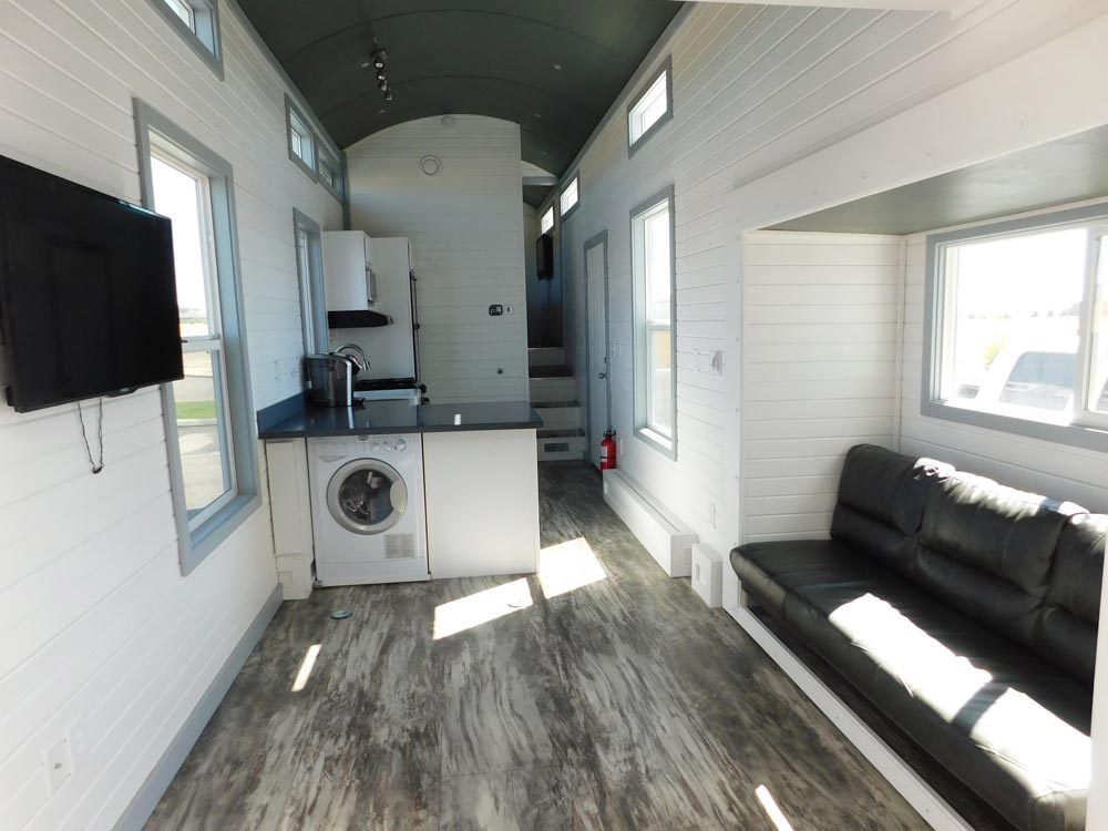 Living Room - Sawtooth Toy Hauler by Tiny Idahomes