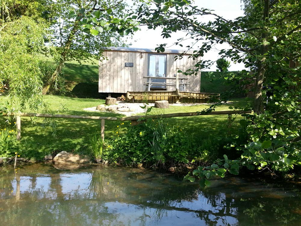 View From Pond - The Shepherds Hut Retreat