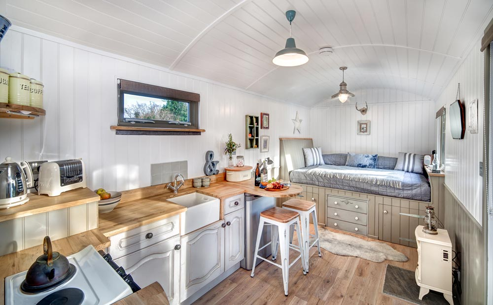 Shepherds Keep Interior - The Shepherds Hut Retreat