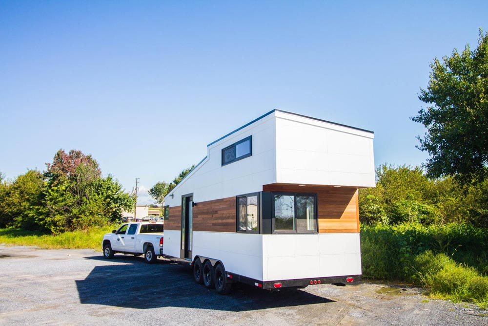 28' Tiny House - White Modern Farmhouse by Liberation Tiny Homes