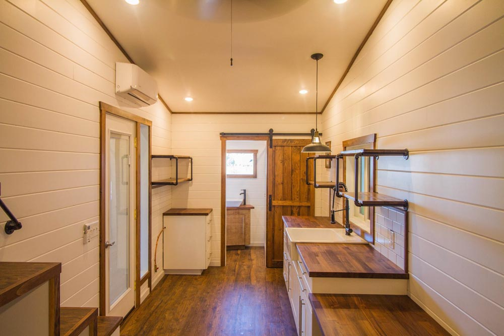 Tiny House Interior - White Modern Farmhouse by Liberation Tiny Homes