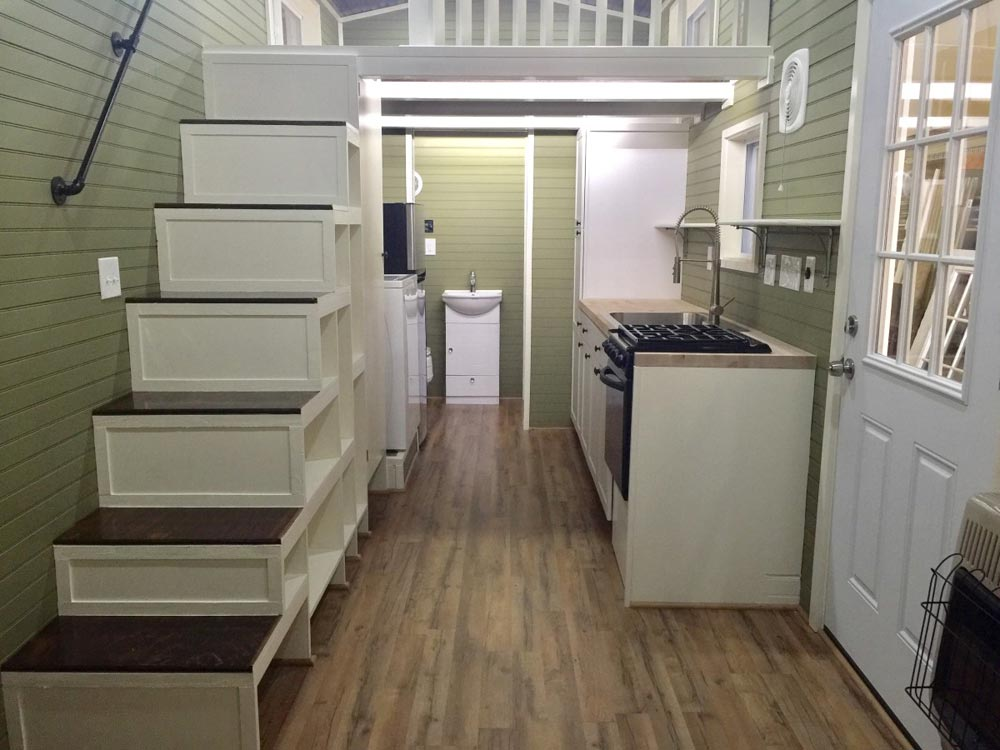 Kitchen & Stairs - Willow by Tiny House Building Company