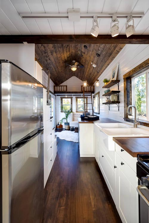 Galley Kitchen - 26' Napa Edition by Mint Tiny Homes