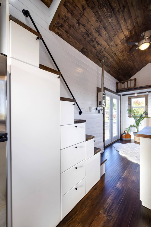 Storage Stairs - 26' Napa Edition by Mint Tiny Homes