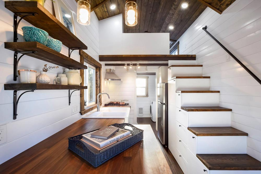 Kitchen & stairs - 26 'Napa Edition by Mint Tiny Homes