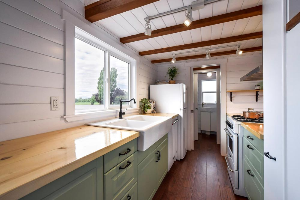 Galley Kitchen - Custom 30' by Mint Tiny Homes