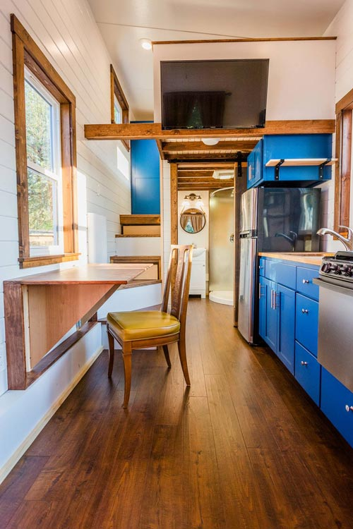 View From Entryway - Julia's Tiny House by Mitchcraft Tiny Homes