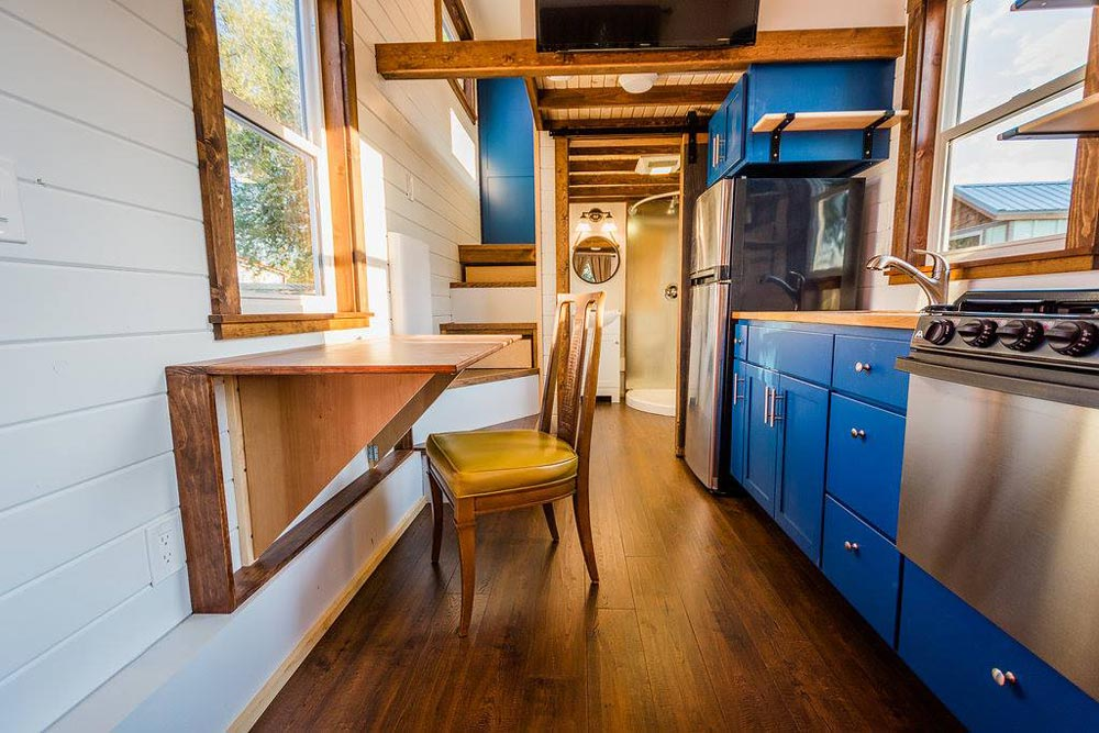 Fold Down Table - Julia's Tiny House by Mitchcraft Tiny Homes
