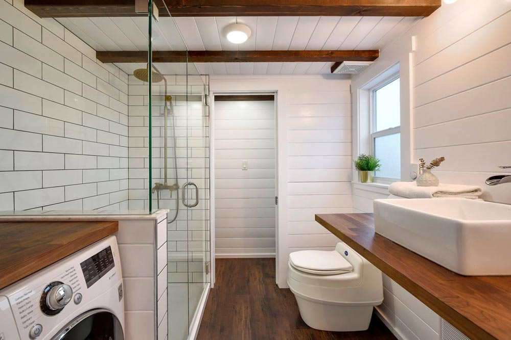 Bathroom w/ Closet - Custom 34' Loft Edition by Mint Tiny Homes