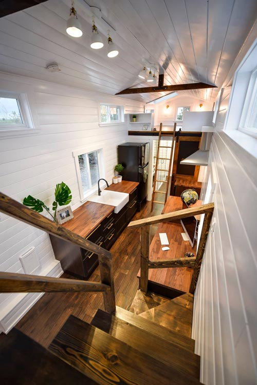 Storage Stairs - Custom 34' Loft Edition by Mint Tiny Homes
