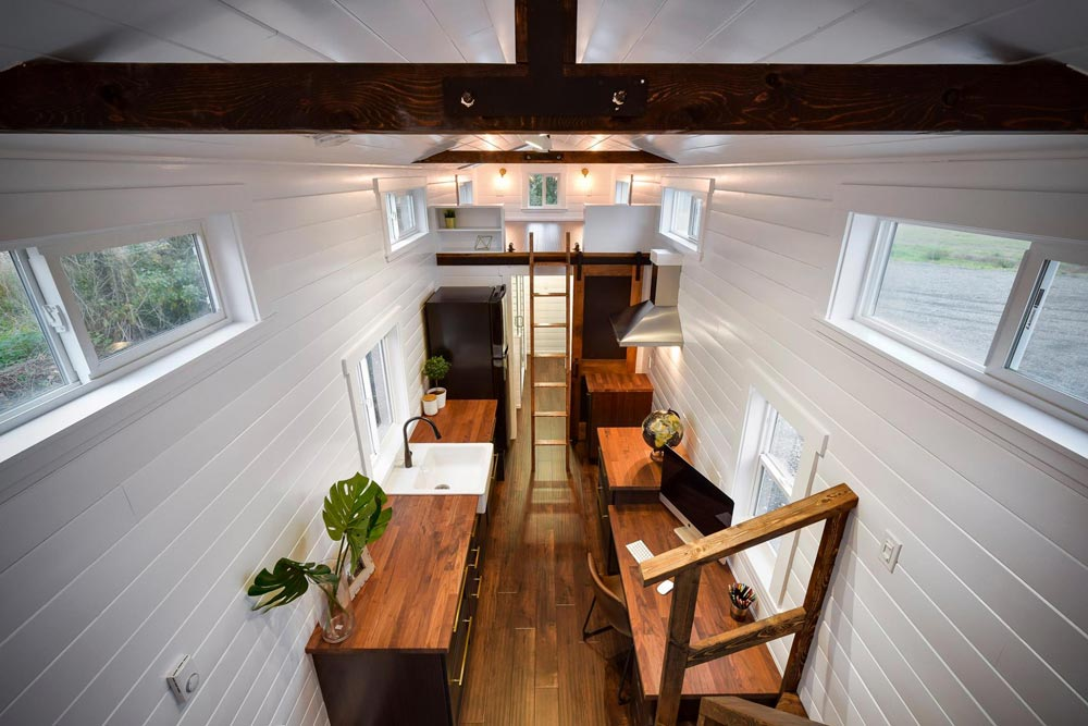 Exposed Beams - Custom 34' Loft Edition by Mint Tiny Homes