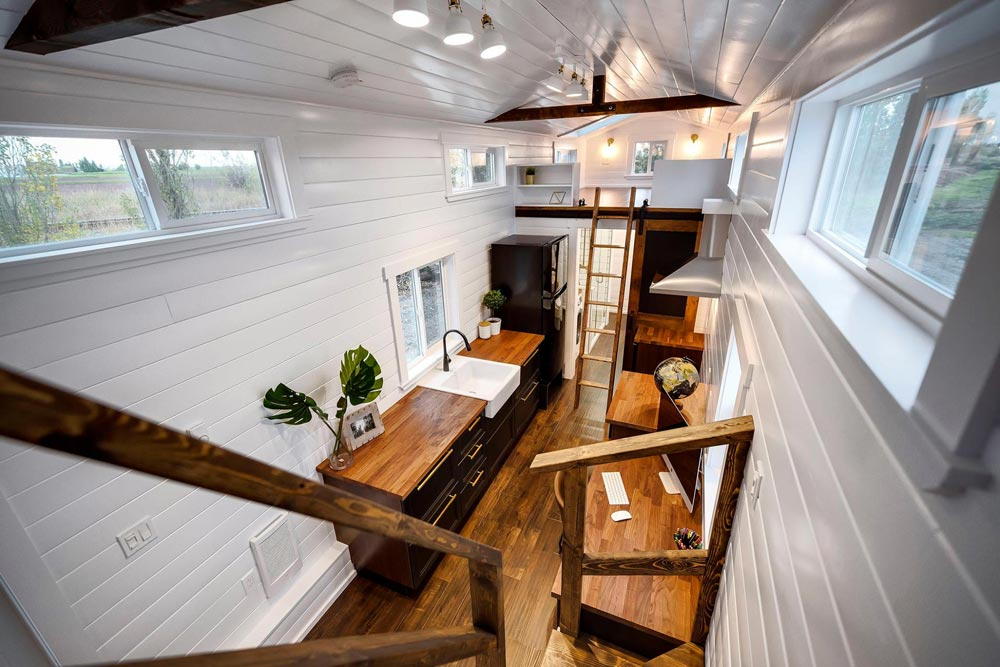 View From Loft   Custom 34u0027 Loft Edition By Mint Tiny Homes