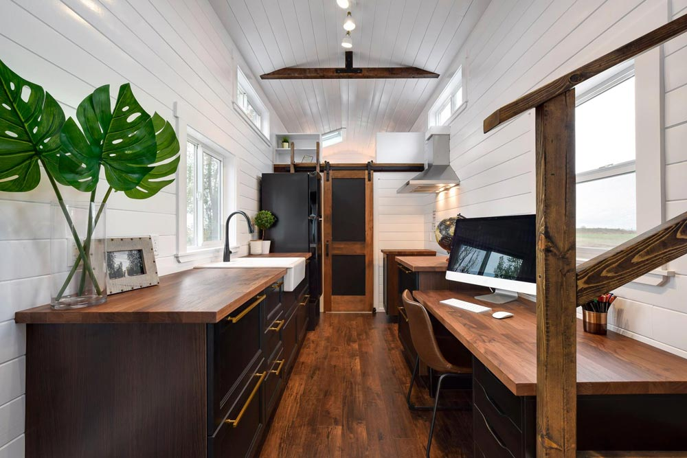 Galley Kitchen - Custom 34' Loft Edition by Mint Tiny Homes