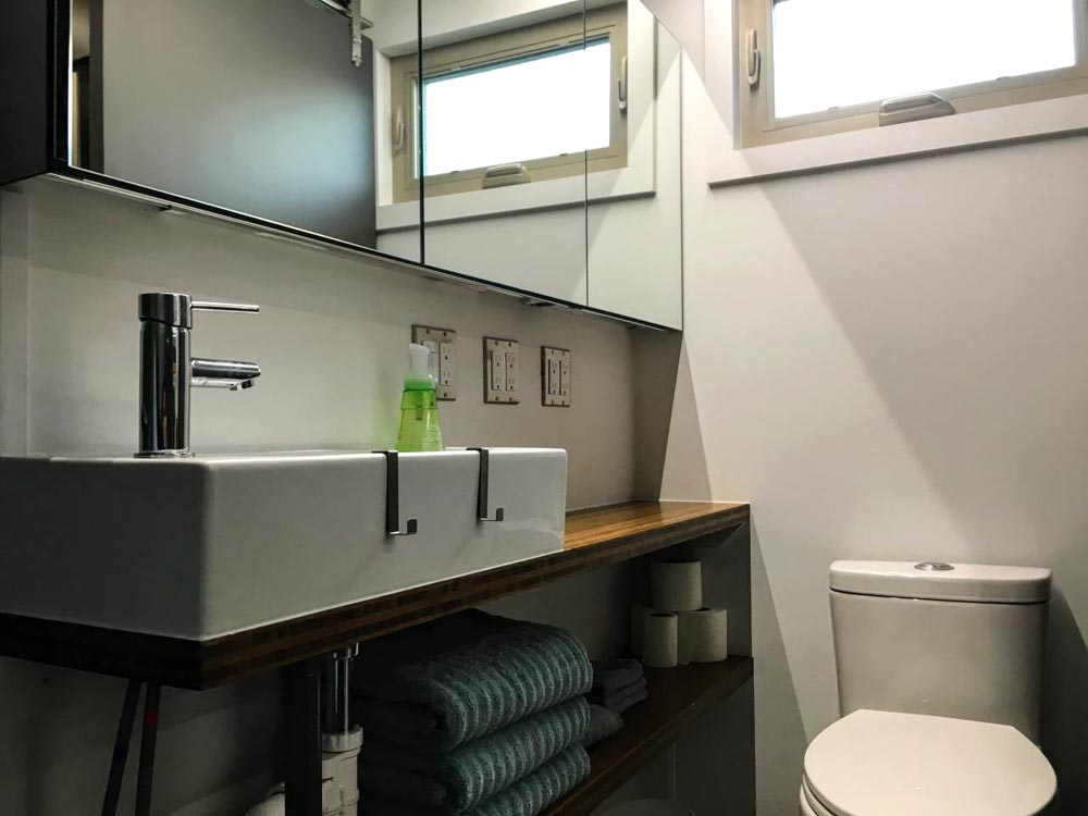 Bathroom Sink - Modern Scandinavian Tiny House Studio