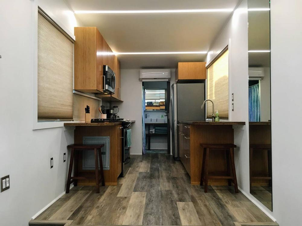 Galley Kitchen - Modern Scandinavian Tiny House Studio