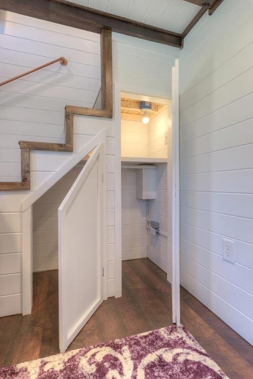 Stair Storage - Trinity v2 by Alabama Tiny Homes
