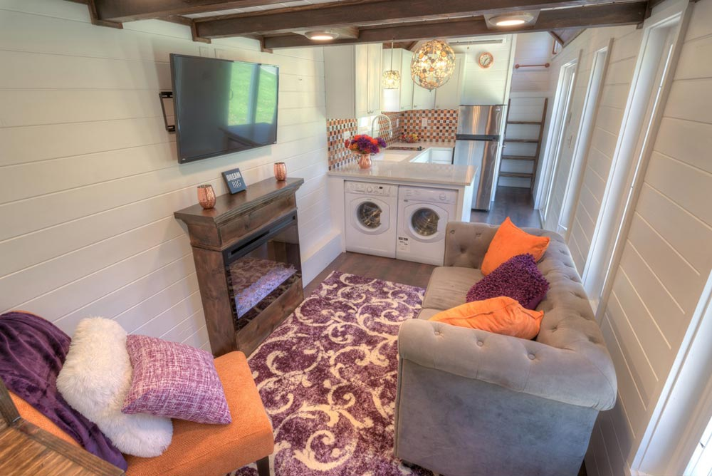 Living Room - Trinity v2 by Alabama Tiny Homes