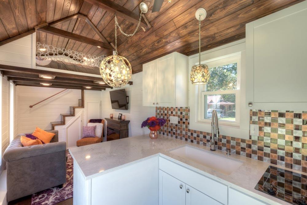 Kitchen & Living Room - Trinity v2 by Alabama Tiny Homes