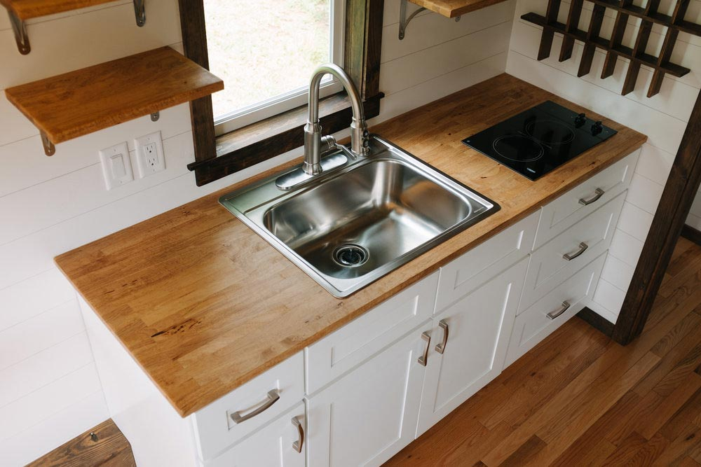 Kitchen Sink & Cooktop - Acadia by Wind River Tiny Homes