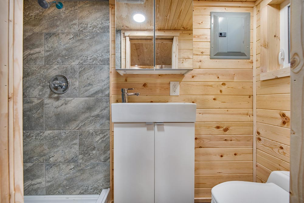 Bathroom Sink - Basecamp + Green by Backcountry Tiny Homes